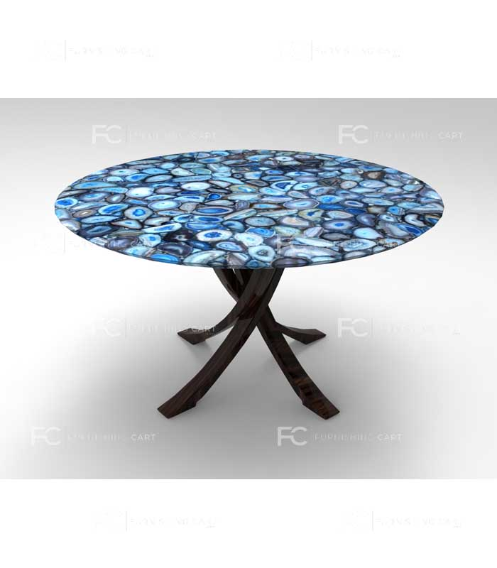 Blue Agate Coffee Table Unico Furnishingcart