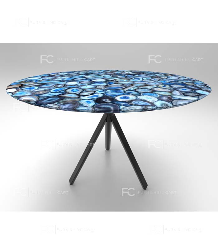 ... Blue Agate Coffee Table Lusso Series View 1 ...