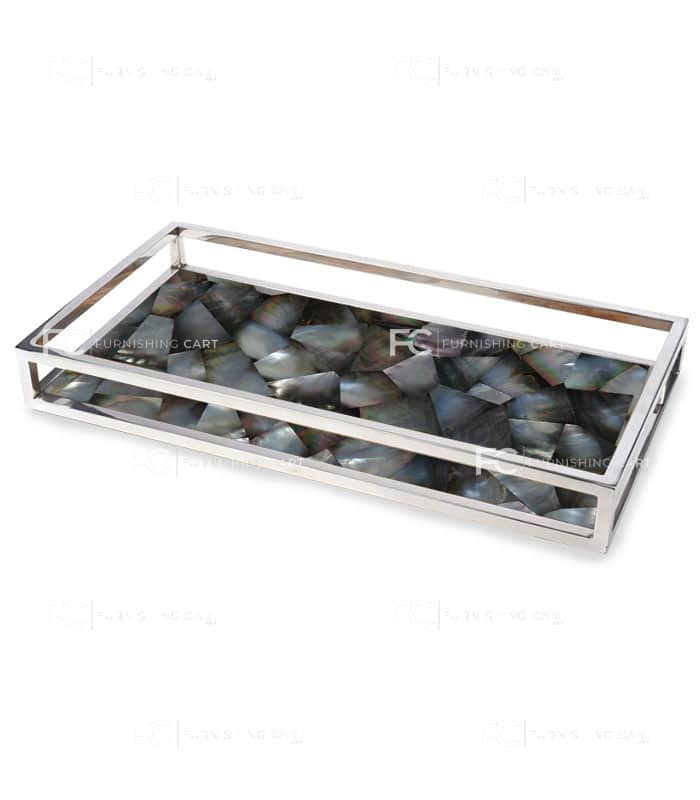 Mother Of Pearl Serving Tray S135 Furnishingcart