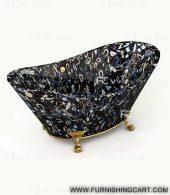 Black-agate-geode-freestanding-bathtub-with-clawfoot-1