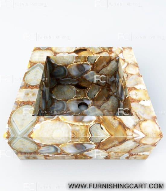 Golden-agate-square-wash-basin-vessel-sink-lwb-115-view-3