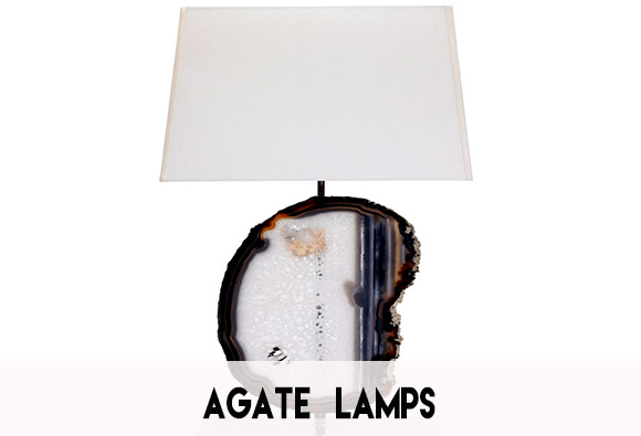 Agate Slice Lamp Shade