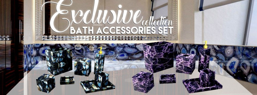 collection of bath-accesory-set-in-smei-precious-stone
