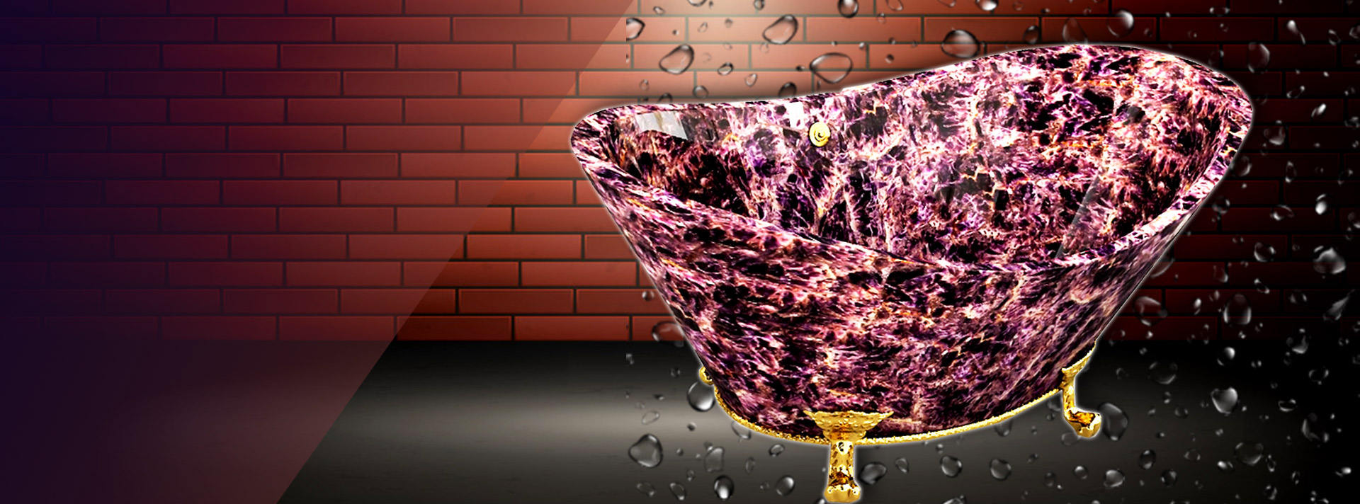 freestanding gemstone bath tub