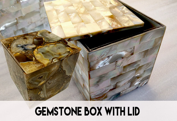 Gemstone box with lid