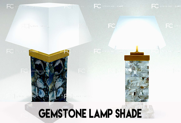 Designer semi precious stone lamp collection