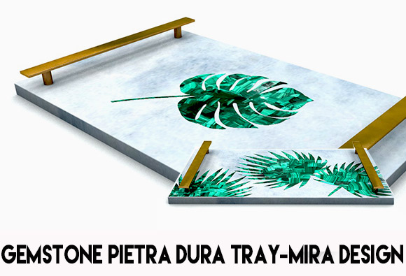 Pietra dura serving tray collection