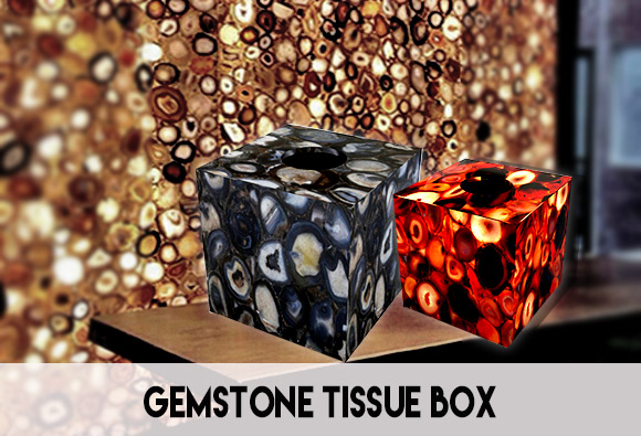 Tissue Paper Box in Precious Stones