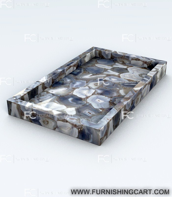 Grey Agate Vanity Tray Furnishingcart