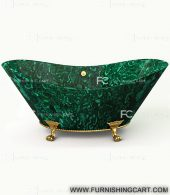 malachite-gemstone-freestanding-bathtub-with-clawfoot-2