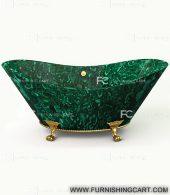 malachite-gemstone-freestanding-bathtub-with-clawfoot-2