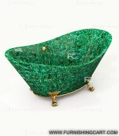 malachite-golden-fill-freestanding-bathtub-with-clawfoot-1