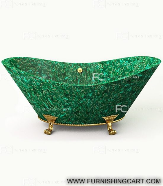 malachite-golden-fill-freestanding-bathtub-with-clawfoot-2