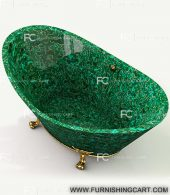 malachite-golden-fill-freestanding-bathtub-with-clawfoot-3