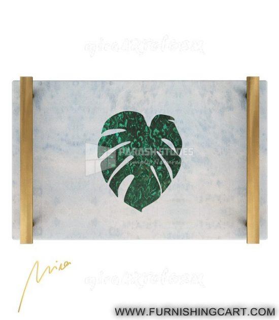 palm-fan-leaf-tray-malachite-marble-3