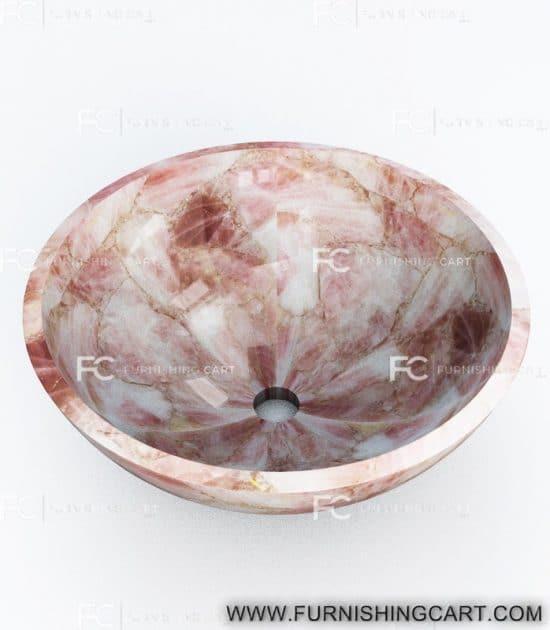 pink-quartz-round-wash-basin-vessel-sink-lwb-139-view-1
