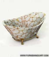 white-quartz-golden-sparkle-freestanding-bathtub-clawfoot-1