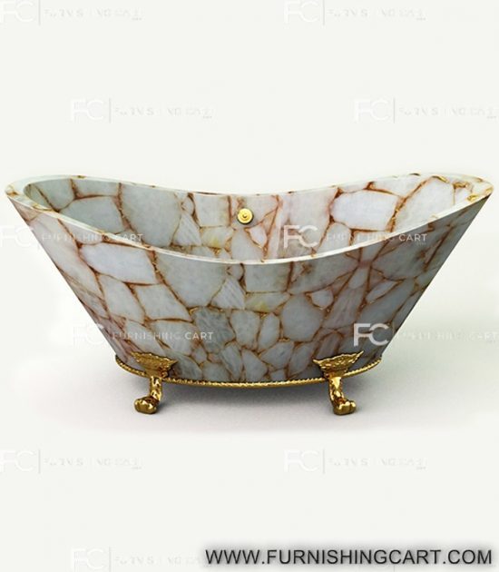 white-quartz-golden-sparkle-freestanding-bathtub-clawfoot-2