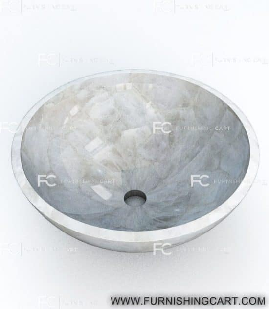 white-quartz-round-wash-basin-vessel-sink-lwb-143-view-1