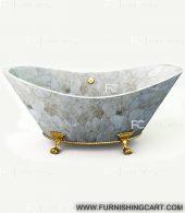 White-quartz-freestanding-bathtub-view-2