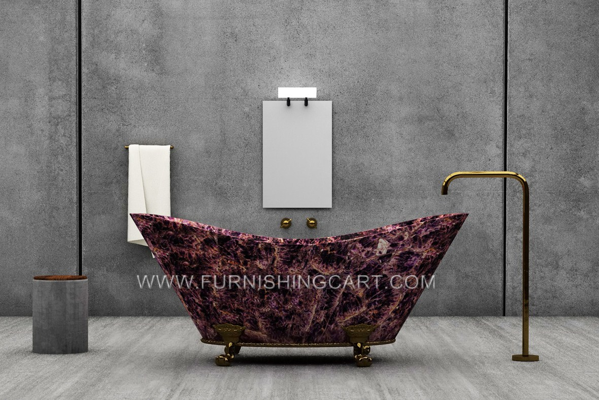 Amethyst Freestanding Bathtub For Spa Project In New