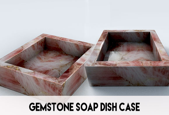 gemstone soap dish case