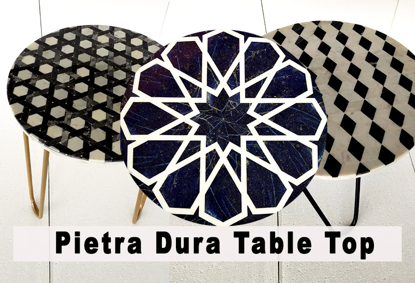 Pietra dura table top collection