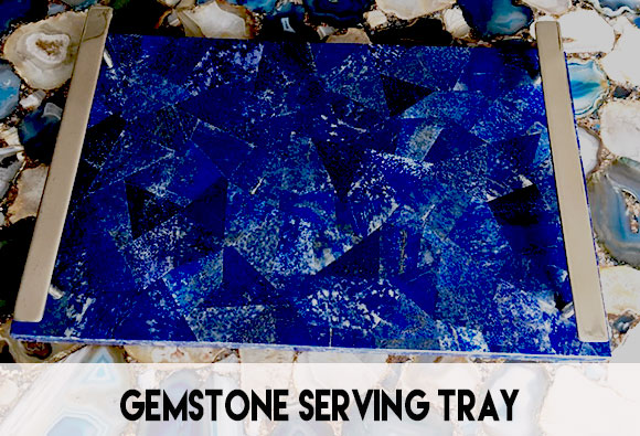 Gemstone serving tray for sale