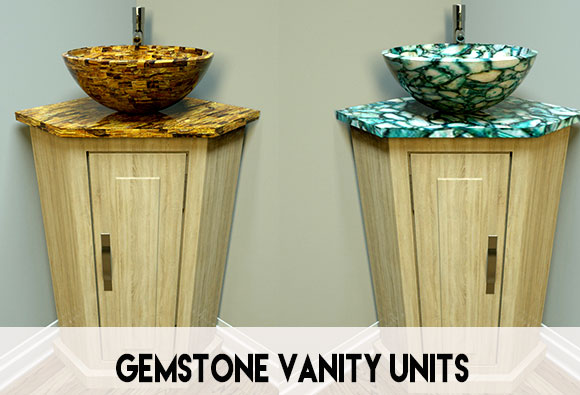 Gemstone corner vanity units for sale