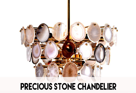 Crystal gemstone chandelier collection