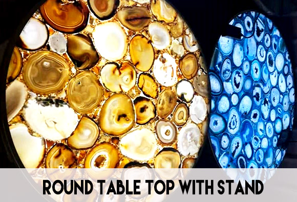 Round table top with stand
